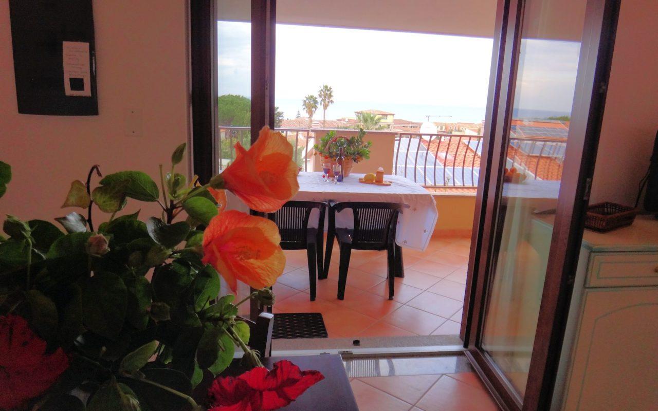 soggiorno e terrazza sa fiorida sardegna